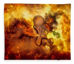 Through Ashes Rise II Fleece Blanket