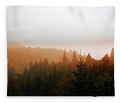 Through The Mist Fleece Blanket