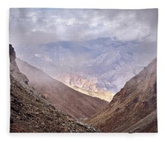 Fleece Blanket featuring the photograph Through The Valley by Whitney Goodey
