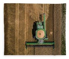 Through Wheat Fleece Blanket