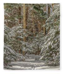 Thru The Forest Fleece Blanket