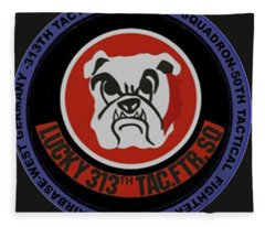 The 313th Tactical Fighter Squadron Fleece Blanket