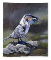 Tiber River Cormorant Fleece Blanket