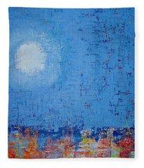 Tidepool Original Painting Sold Fleece Blanket