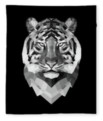 Tiger's Face Fleece Blanket
