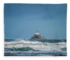 Tillamook Rock Lighthouse Near Cannon Beach Fleece Blanket