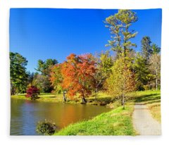 Time For A Walk Fleece Blanket