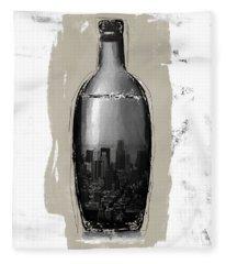 Time In A Bottle 2- Art By Linda Woods Fleece Blanket