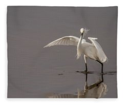 Time To Fish Fleece Blanket