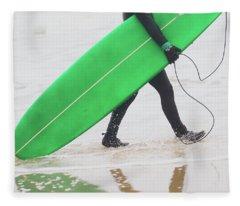Time To Surf Fleece Blanket