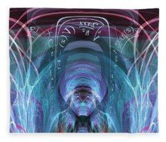 Time Traveler Fleece Blanket
