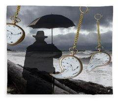 Time Waits For No Man Fleece Blanket