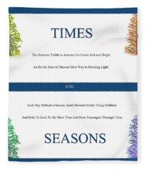Times And Seasons - Poem Fleece Blanket