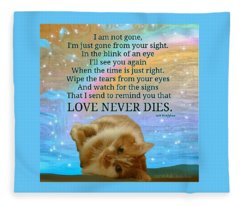 Custom Order Timmy Not Available For Public Resale Love Never Dies  Fleece Blanket