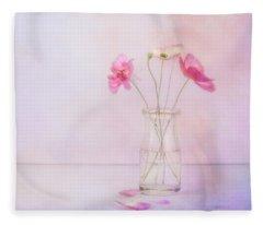 Tiny Poppies Fleece Blanket