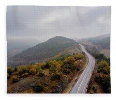 To The Mountains Fleece Blanket
