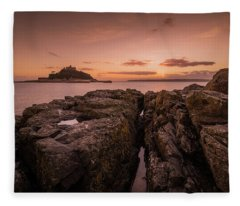 To The Sunset - Marazion Cornwall Fleece Blanket