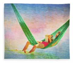 Toes In The Water Fleece Blanket