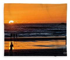 Tofino Sunset 1 Fleece Blanket