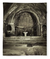 Tomb And Altar In The Monastery Of San Pedro De Rocas Fleece Blanket