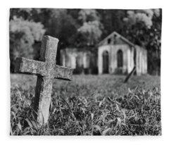 Tombstone, St. Chad's, Trinidad Fleece Blanket