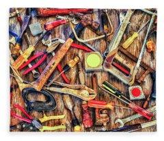 Tools In Color Fleece Blanket