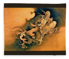 Top Quality Art - Dragon Playing Fleece Blanket