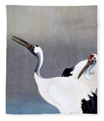 Top Quality Art - Grus Japonensis Fleece Blanket