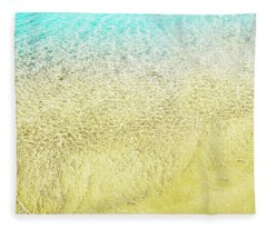 Top View Of Sea Water And Sand Texture Image.  Fleece Blanket
