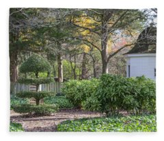 Topiary In Colonial Williamsburg Fleece Blanket