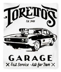 Toretto's Garage Fleece Blanket