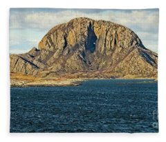 Torghatten Mountain Norway Fleece Blanket