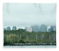 Toronto Under The Clouds Fleece Blanket
