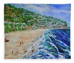 Torrance Beach, Palos Verdes Peninsula Fleece Blanket