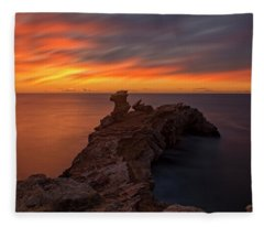 Total Calm At A Sunrise In Ibiza Fleece Blanket