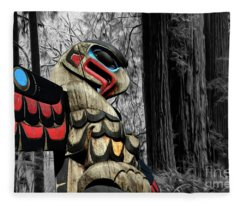 Totem Of The Forest Fleece Blanket