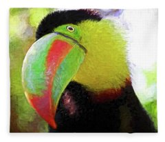 Toucan Stare Fleece Blanket