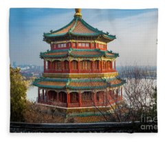 Tower Of Buddhist Incense Fleece Blanket