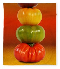 Tower Of Colorful Tomatoes Fleece Blanket