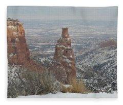 Tower Rock Fleece Blanket
