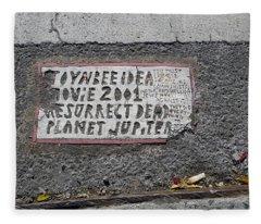 Toynbee Tile Nyc Fleece Blanket
