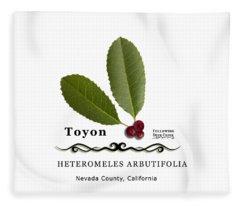 Toyon Christmas Berry Fleece Blanket