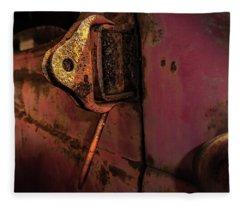 Truck Hinge Fleece Blanket