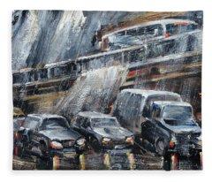 Traffic Fleece Blanket
