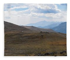 Trail Ridge Road Arctic Panorama Fleece Blanket