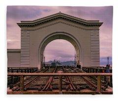 Train To Nowhere Fleece Blanket