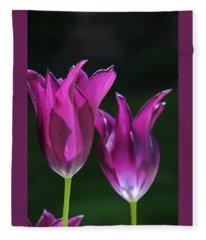 Translucent Tulips Fleece Blanket