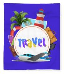 Travel World Fleece Blanket