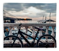 Bicycle Photographs Fleece Blankets