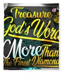 Treasure God's Word Fleece Blanket